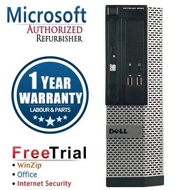 Refurbished Dell OptiPlex 390 SFF Intel Core I3 2100 3.1G 4G DDR3 500G DVD Win 10 Pro 1 Year Warranty