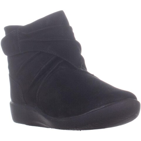 Clarks Sillian Tana Ankle Boots, Black Synthetic