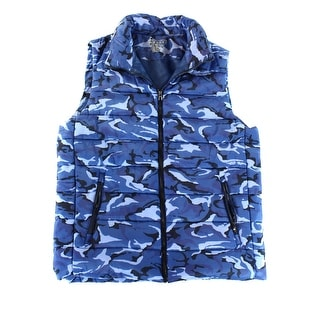 human performance engineering NEW Blue Mens Size 2XL Camo Puffer Vest