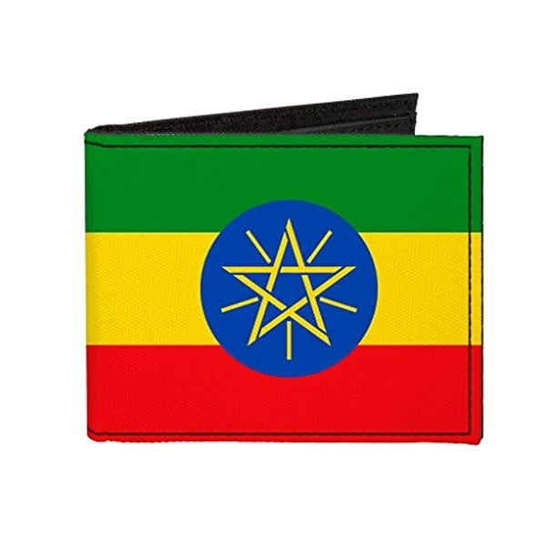 Buckle-Down Canvas Bi-fold Wallet - Ethiopia Flag Accessory