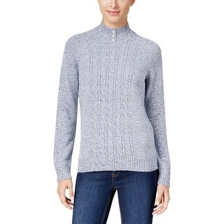 Karen Scott Womens Pullover Sweater Cable-Knit Pull-Over