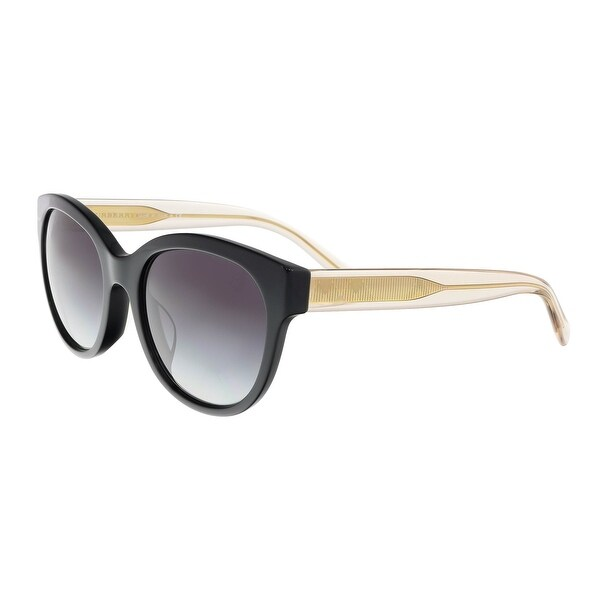 f671faa1c260 Shop Burberry BE4187F 35078G Black Cateye Sunglasses - 54-19-140 ...