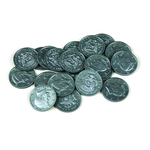 Learning Advantage Half-Dollar Coins Set Of 50- Plastic