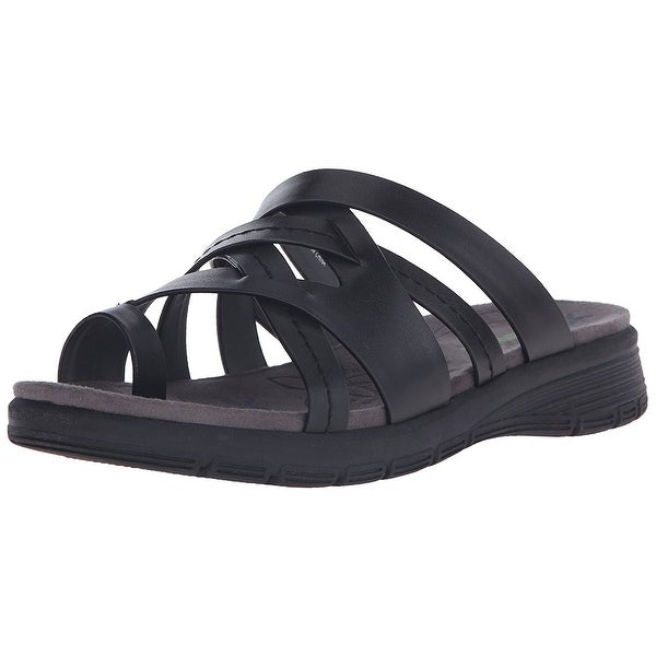 Bare Traps Womens Cassy Fabric Open Toe Casual Slide Sandals