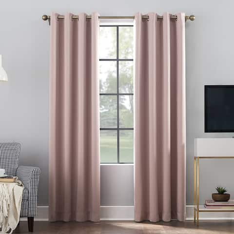 Sun Zero Oslo Total Blackout Grommet Curtain Panel