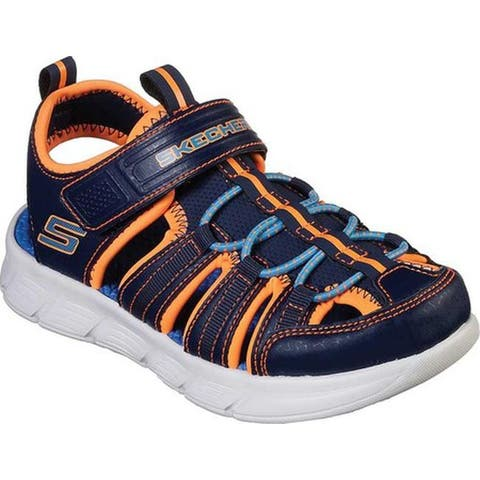 Skechers Boys' C-Flex Sandal Closed Toe Sandal Navy/Orange