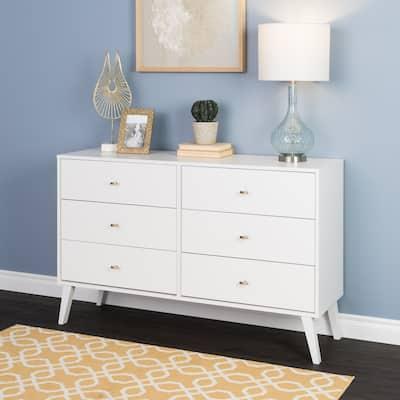 Milo Mid-century Modern 6-drawer Dresser