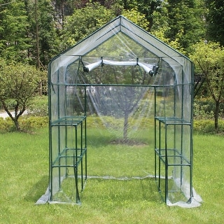 Link to Outdoor Plant Gardening Greenhouse 2 Tiers 8 Shelves Similar Items in Gardening