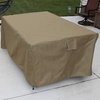 Sunnydaze Khaki Square Patio Dining Table Protective Cover - Includes Cover Only