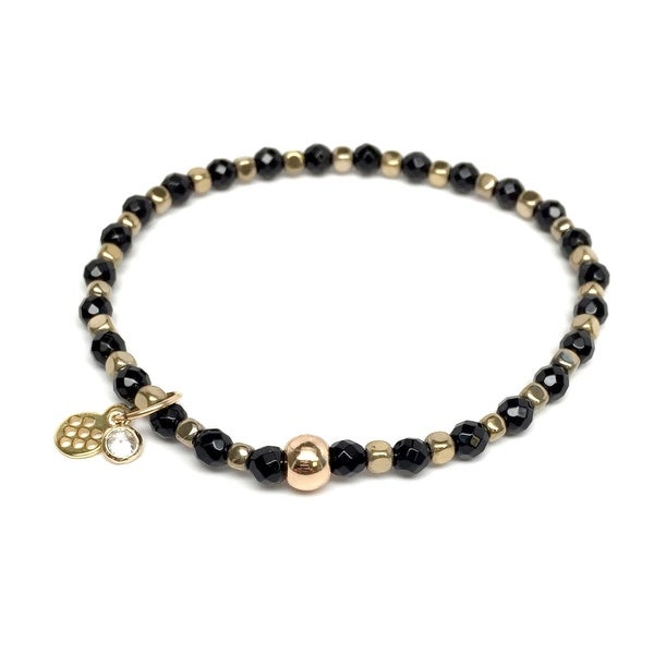 "Black Onyx Friendship 7"" Bracelet"