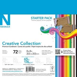 """Neenah Cardstock Starter Pack 8""""X8"""" 72/Pkg-18 Colors/4 Each"""