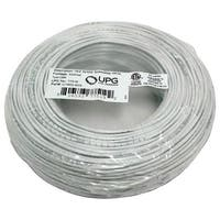 Upg 77519 18-Gauge, 2-Conductor Striped Control White Cable, 500Ft Coil Pack