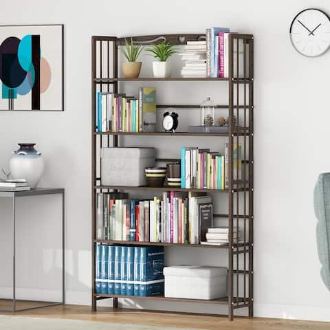 5 Shelf 5 Shelf Solid Wood storage Bookshelf Display bookcase