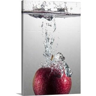 """Apple splash"" Canvas Wall Art"