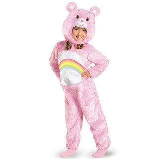 Disguise Care Bears Cheer Bear Deluxe Plush Toddler Costume - Pink