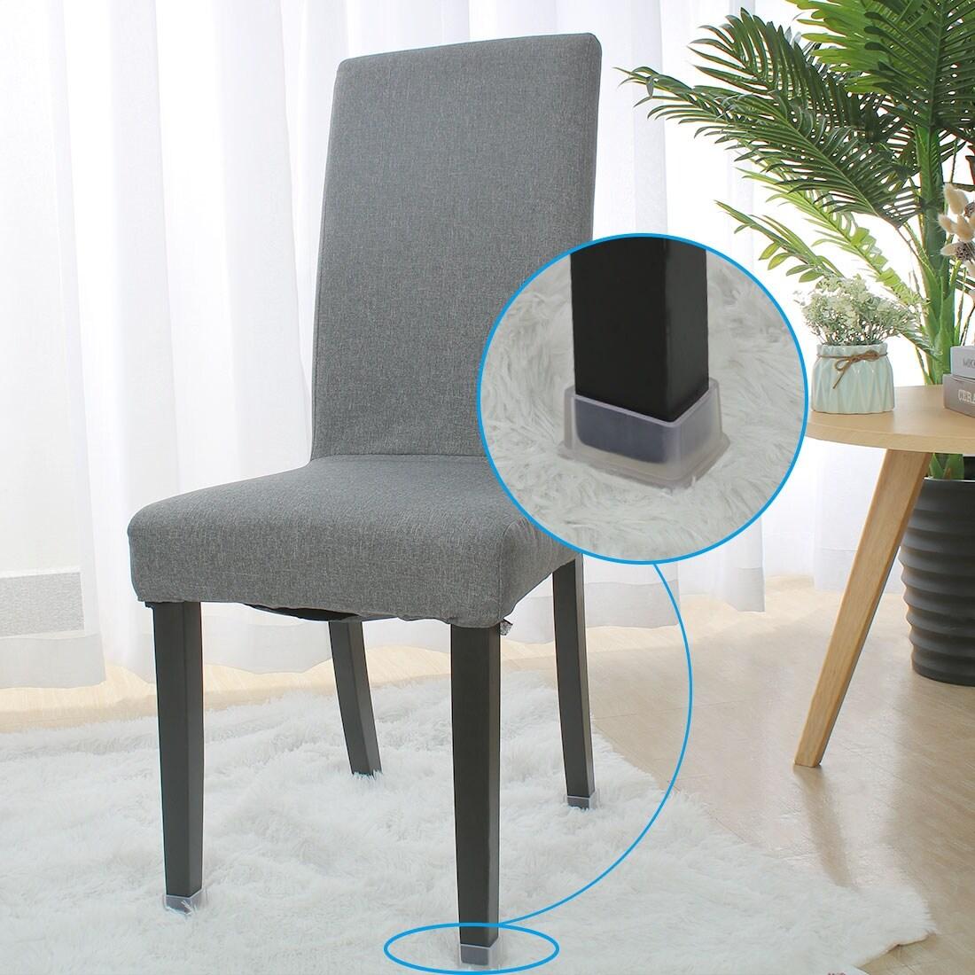 Clear Pvc Chair Leg Caps End Tip Feet