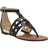 Vince Camuto Women's Arlanian Gladiator Sandal Black Casual Calf