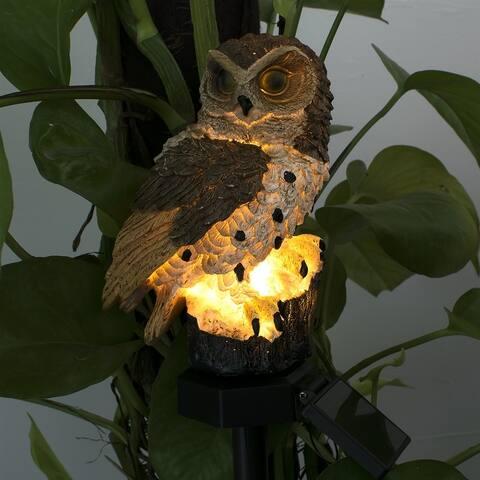 Outdoor Waterproof Solar Owl Landscape Light