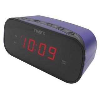 Timex T121u Alarm Clock With 0.7-Inch Red Display (Purple)