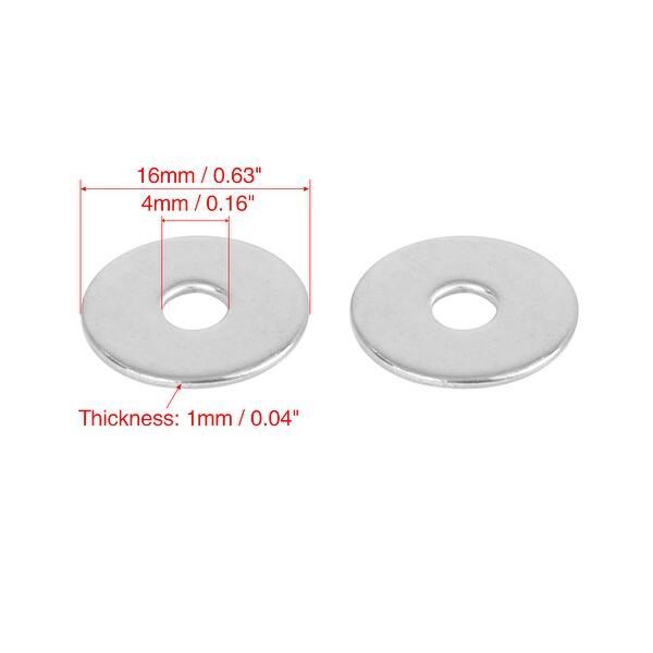 M4 x 10mm x 1mm Plastic Round Washer Gasket Sealing Ring Black