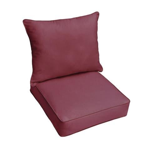 Sunbrella Indoor/ Outdoor Deep Seating Cushion and Pillow Set