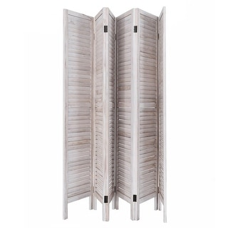 6 Panel Wood Room Divider 67'' Tall Folding Portable Partition Screen