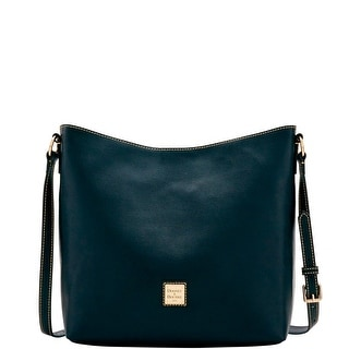 Dooney & Bourke Saffiano Hobo Crossbody (Introduced by Dooney & Bourke at $228 in Feb 2017) - Black