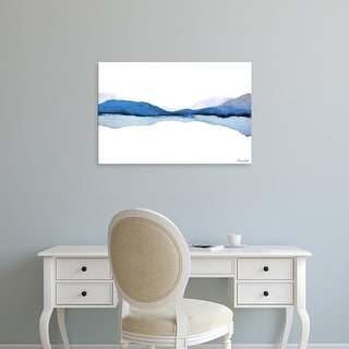 Easy Art Prints Nancy Knight's 'Mountain Reflection' Premium Canvas Art