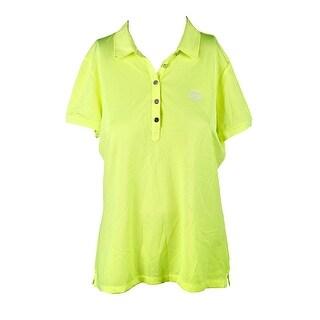 Lauren Ralph Lauren Citrus Yellow Stretch-Pique Polo Shirt L