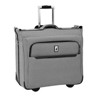 "London Fog Cambridge II 44"" Wheeled Garment Bag Black White Houndstooth - us one size (size none)"