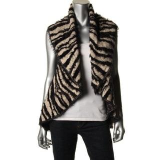 Sioni Womens Wool Animal Print Sweater Vest - S