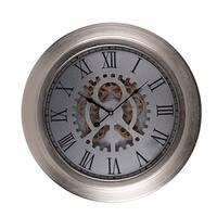 Metallic Wall Clock, Metallic Grey