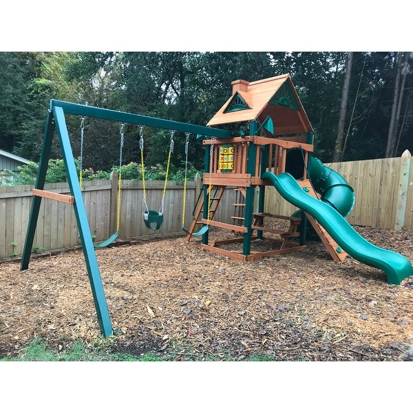 Shop Gorilla Playsets Mountaineer Cedar Swing Set With Timber Shield