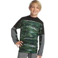 Hanes Sport™ Boys' Long Sleeve Pieced Tech Tee - Color - Fast Dash Camo/Black/Stealth - Size - S