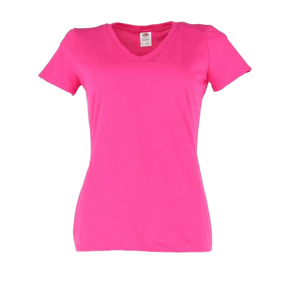 Fruit of the Loom Womens Cotton V Neck Tee Shirt