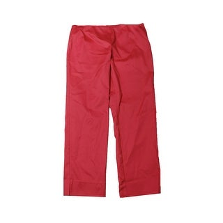 Charter Club Crushed Coral Slim-Leg Ankle Pants 16