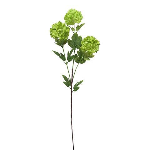 Set of 3 Snowball Hydrangea Flower Stem Spray 32in
