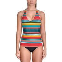 Anne Cole Womens Striped Halter Swim Top Separates