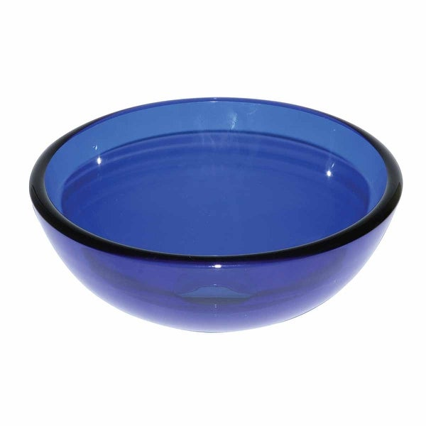 Blue Tempered Glass Mini Vessel Bowl Sink | Renovator's Supply