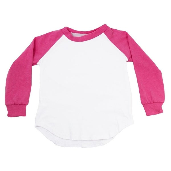 Unisex Baby Hot Pink Two Tone Long Sleeve Raglan Baseball T-Shirt