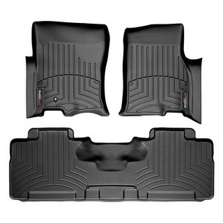 WeatherTech 44107-1-2 Black Front & Rear FloorLiner: Ford Expedition EL 2010