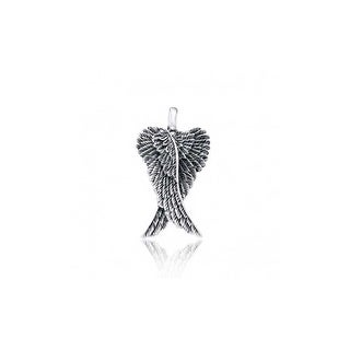 Oxidized .925 Sterling Silver Celtic Angel Wings Pendant