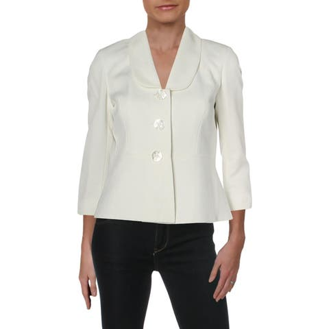 Le Suit Womens Petites Three-Button Blazer Business Office - 2P