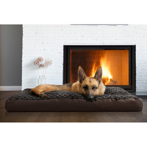 FurHaven Pet Bed Ultra Plush Deluxe Pillow Dog Bed