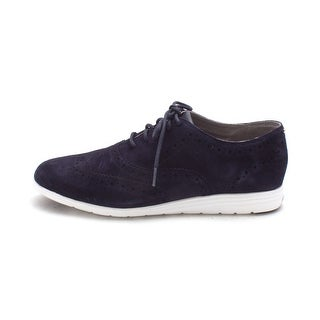 Cole Haan Womens 15A4225 Suede Low Top Lace Up Fashion Sneakers - 6