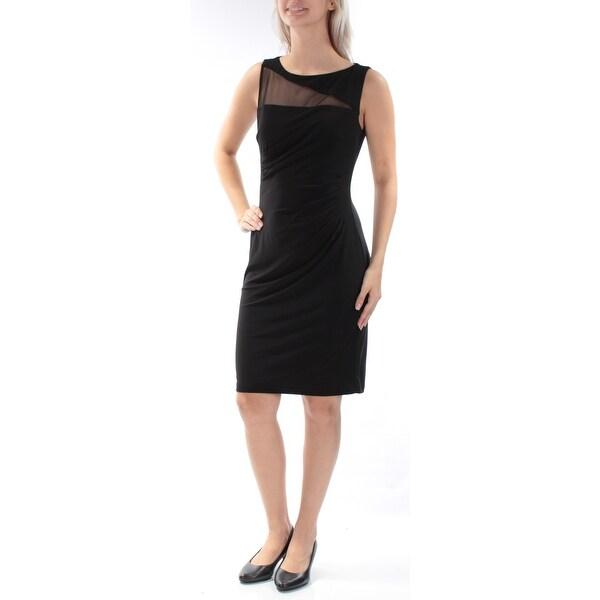 Shop American Living Womens Black Sleeveless Jewel Neck Knee Length