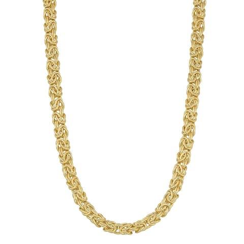 Mcs Jewelry Inc 14 KARAT YELLOW GOLD BYZANTINE NECKLACE 6MM (18 INCHES)