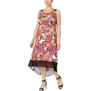 NY Collection Womens Plus Casual Dress Hi-Low Printed