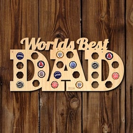 Worlds Best Dad Beer Cap Map