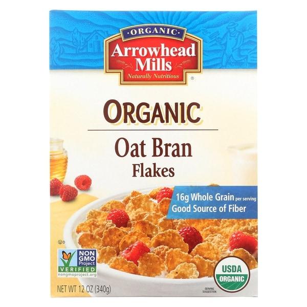 Arrowhead Mills Oat Bran Flake - Blend Cereal - Case of 12 - 12 oz.